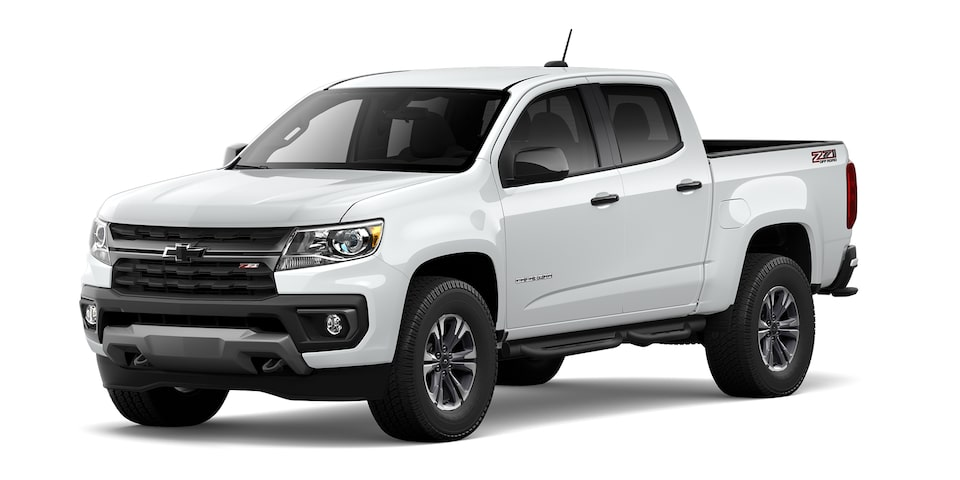 Chevrolet Colorado 2021 en color blanco